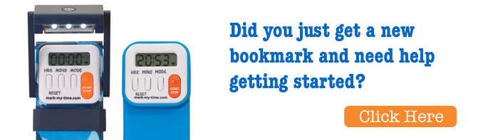 Take the work out of reading homework - digital bookmark and booklight